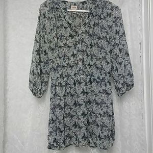 Mossimo butterfly sheer top